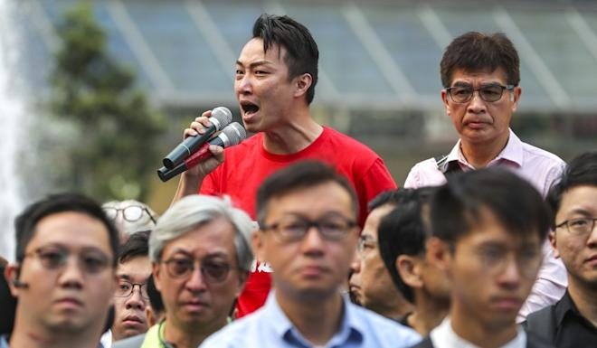 Pro-democracy candidate Jimmy Sham says Carrie Lam must not shy away from responding to what voters were telling her. Photo: Sam Tsang