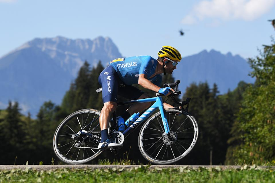 LA ROCHE-SUR-FORON, FRANCE - SEPTEMBER 17: Jose Joaquin Rojas Gil of Spain and Movistar Team / during the 107th Tour de France 2020, Stage 18 a 175km stage from Méribel to La Roche sur Foron 543m / #TDF2020 / @LeTour / on September 17, 2020 in La Roche-sur-Foron, France. (Photo by Tim de Waele/Getty Images)