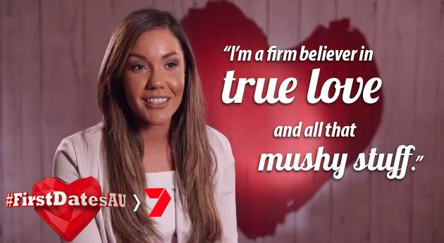 Before her stint on MAFS, the Queenslander starred on Channel Seven's First Dates in 2016. Source: Seven