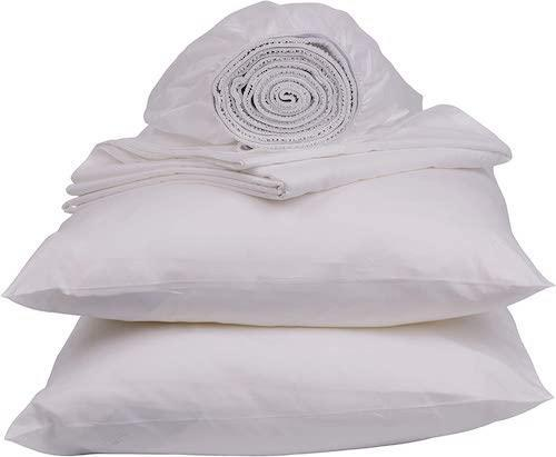 Sweave 100% Egyptian Cotton 400-Thread Count Percale Sheets