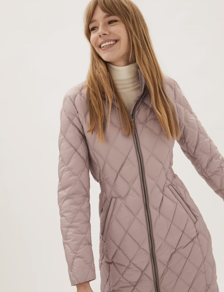The quilted coat comes in five trendy shades. (Marks & Spencer)
