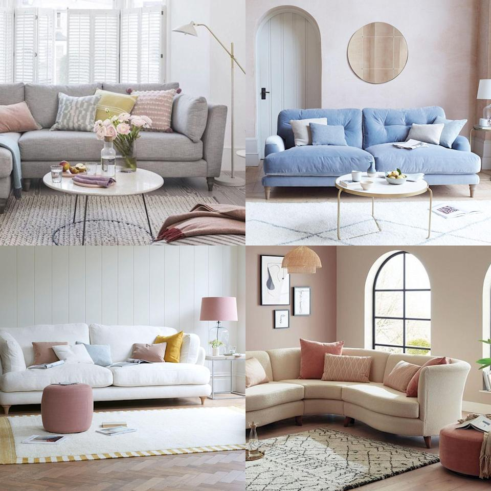 """<p><strong>Colour is one of the most vital considerations when decorating our homes, influencing everything from our mood to our quality of sleep, and even our concentration. It is <a href=""""https://www.housebeautiful.com/uk/decorate/looks/g37289366/colour-combinations/"""" rel=""""nofollow noopener"""" target=""""_blank"""" data-ylk=""""slk:colour"""" class=""""link rapid-noclick-resp"""">colour</a> that creates a <a href=""""https://www.housebeautiful.com/uk/decorate/bedroom/a34285907/bedroom-more-relaxing/"""" rel=""""nofollow noopener"""" target=""""_blank"""" data-ylk=""""slk:relaxing bedroom"""" class=""""link rapid-noclick-resp"""">relaxing bedroom</a> sanctuary, a crisp and bright kitchen, or a warm and welcoming <a href=""""https://www.housebeautiful.com/uk/decorate/hallway/g36617179/instagrammable-hallway-ideas/"""" rel=""""nofollow noopener"""" target=""""_blank"""" data-ylk=""""slk:hallway"""" class=""""link rapid-noclick-resp"""">hallway</a>. </strong></p><p>It is unsurprising therefore that colour is one of the most significant factors affecting our purchasing decisions, especially when it comes to big ticket items such as a <a href=""""https://www.housebeautiful.com/uk/house-beautiful-collections/news/a316/dfs/"""" rel=""""nofollow noopener"""" target=""""_blank"""" data-ylk=""""slk:sofa"""" class=""""link rapid-noclick-resp"""">sofa</a>. </p><p>Search data analysis from <a href=""""https://www.homedit.com"""" rel=""""nofollow noopener"""" target=""""_blank"""" data-ylk=""""slk:Homedit.com"""" class=""""link rapid-noclick-resp"""">Homedit.com</a> has revealed exactly what sofa colours we are looking for online, and the results contain some surprises. </p><p>The top 10 most sought-after sofa colours of 2021 are:</p><ol><li>Grey</li><li>Pink</li><li>Blue</li><li>White</li><li>Green</li><li>Black</li><li>Beige</li><li>Cream</li><li>Red</li><li>Yellow </li></ol><p>Unsurprisingly, <a href=""""https://www.housebeautiful.com/uk/decorate/living-room/g29292200/grey-living-room-ideas/"""" rel=""""nofollow noopener"""" target=""""_blank"""" data-ylk=""""slk:grey"""" class=""""link rapid-noclick-resp"""">grey</a> topped the list as the m"""