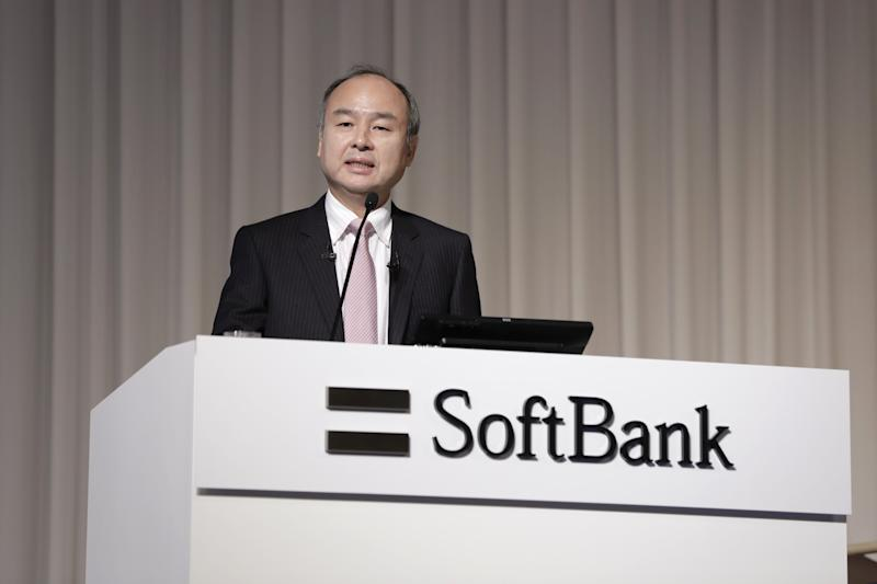 Masayoshi Son, chairman and chief executive officer of SoftBank Group Corp., speaks during a news conference in Tokyo, Japan, on Thursday, Feb. 6, 2019. SoftBank is buying back as much as 600 billion yen ($5.5 billion) of stock, as founder Son steps up efforts to close the disparity between what he thinks the company is worth versus its market value. Photographer: Kiyoshi Ota/Bloomberg via Getty Images