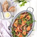 """<p>This dish throws together in one roasting tin - making it a perfect weeknight supper.</p><p><strong>Recipe: <a href=""""https://www.goodhousekeeping.com/uk/food/recipes/a534983/maple-chicken-tray-bake/"""" rel=""""nofollow noopener"""" target=""""_blank"""" data-ylk=""""slk:Maple chicken tray bake"""" class=""""link rapid-noclick-resp"""">Maple chicken tray bake</a></strong></p>"""