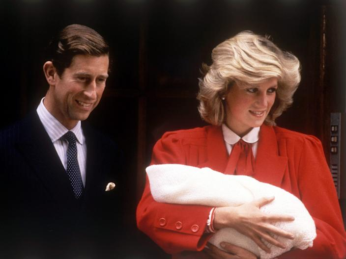 princess diana and pricne harry and pricne charles