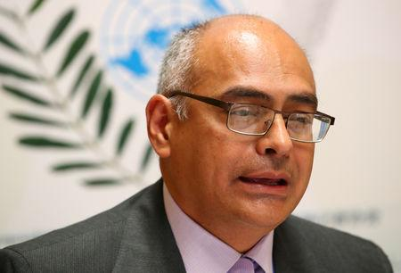 Venezuelan Health minister Alvarado holds briefing on the country's health situation in Geneva