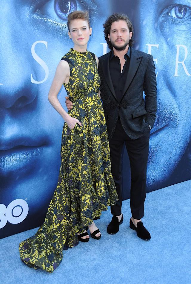 Kit Harington and Rose Leslie at Walt Disney Concert Hall in L.A.on July 12. (Photo: Getty Images)