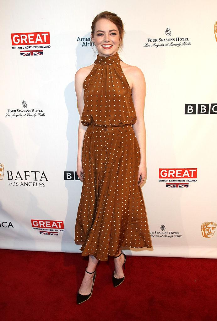 Emma Stones has us seeing spots, and we like it. (Photo: Getty)