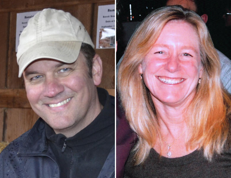 This combo made from undated photos released by the Clackamas County Sheriff's Dept. shows Oregon mall shooting victims shows Steven Mathew Forsyth, 45, of West Linn, Ore., left, and Cindy Ann Yuille, 54, of Portland, Ore. The gunman who killed two people and himself in a shooting rampage on Tuesday, Dec. 11, 2012 was 22 years old and used a stolen rifle from someone he knew, authorities said Wednesday. (AP Photo/Clackamas County Sheriff's Dept.)