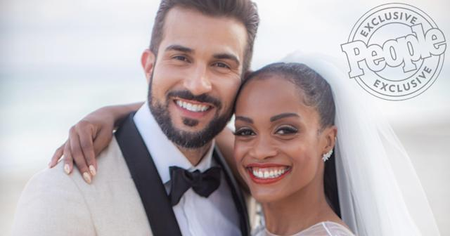 The Bachelorette S Rachel Lindsay And Bryan Abasolo Share Details Of Their Island Chic Wedding