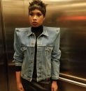 <p>Jennifer sent the Internet into a meltdown after wearing this Balenciaga jacket on 'The Voice' yesterday. [Photo: Jennifer Hudson/ Instagram] </p>