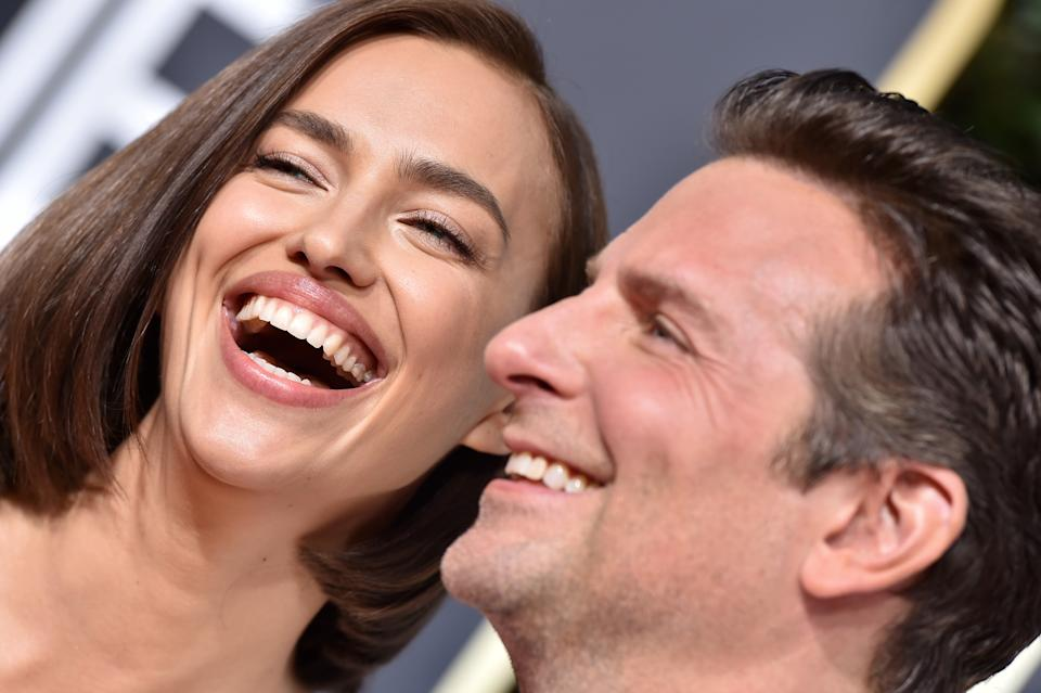 BEVERLY HILLS, CA - JANUARY 06:  Irina Shayk and Bradley Cooper attend the 76th Annual Golden Globe Awards at The Beverly Hilton Hotel on January 6, 2019 in Beverly Hills, California.  (Photo by Axelle/Bauer-Griffin/FilmMagic)