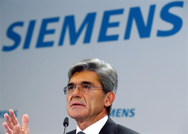 Germany's Siemens CEO Kaeser addresses annual news conference in Berlin