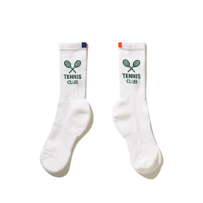 """<h2>Crew Socks</h2><br>Make no mistake — there's a certain style of sock needed to complete the tennis or golf look, and that is the high crew. The reason for this is so that sweat that's dripping down your legs can be absorbed by a higher-cut sock. (Ankle socks could never.) You've got a few extra inches of upper sock area to show off, so go ahead and select a snazzy pair. <br><br><strong>Kule</strong> The Women's Tennis Sock, $, available at <a href=""""https://go.skimresources.com/?id=30283X879131&url=https%3A%2F%2Fwww.kule.com%2Fcollections%2Fsocks%2Fproducts%2Fthe-womens-tennis-sock-white"""" rel=""""nofollow noopener"""" target=""""_blank"""" data-ylk=""""slk:Kule"""" class=""""link rapid-noclick-resp"""">Kule</a>"""