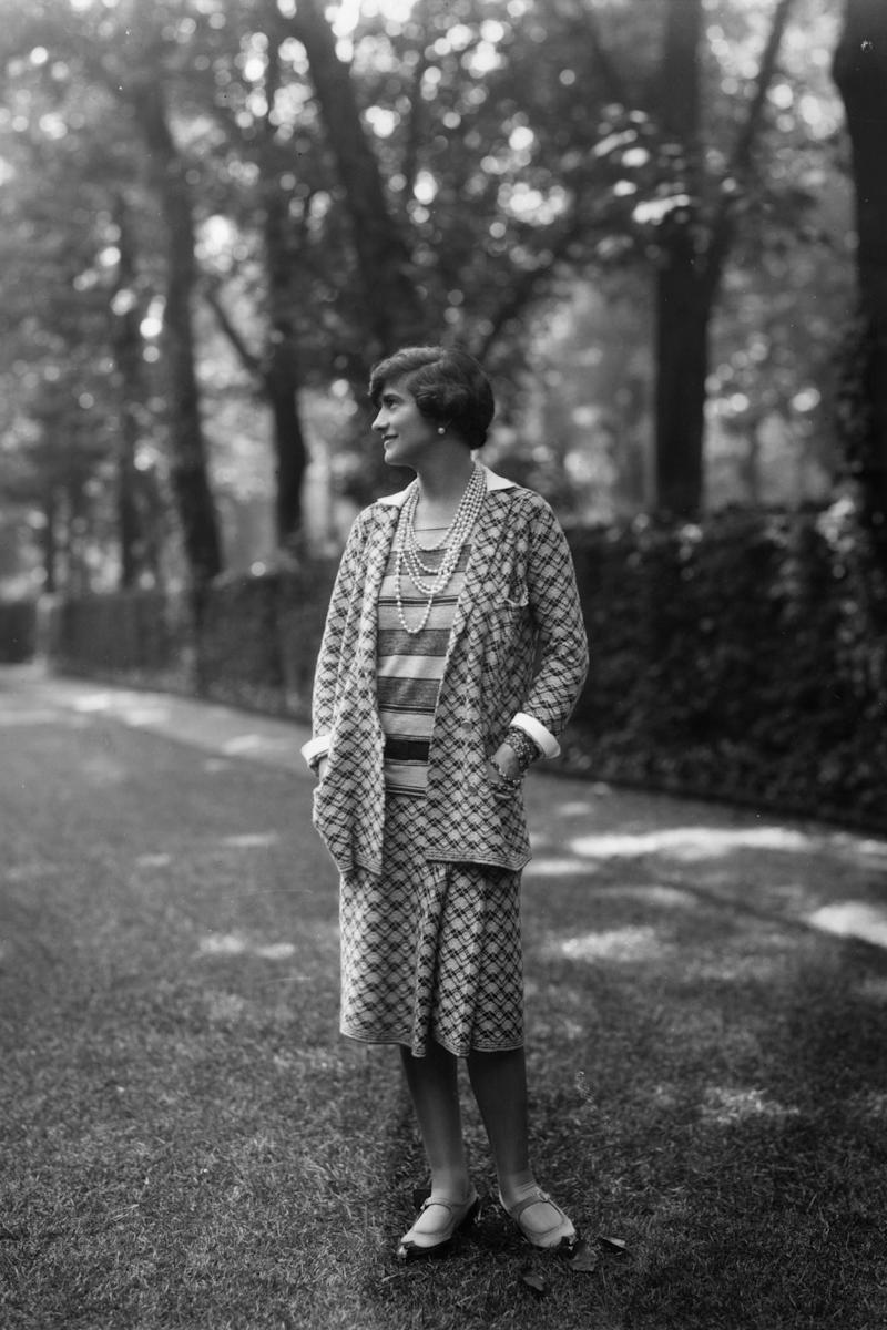 Coco Chanel wearing her own designs, 1929.