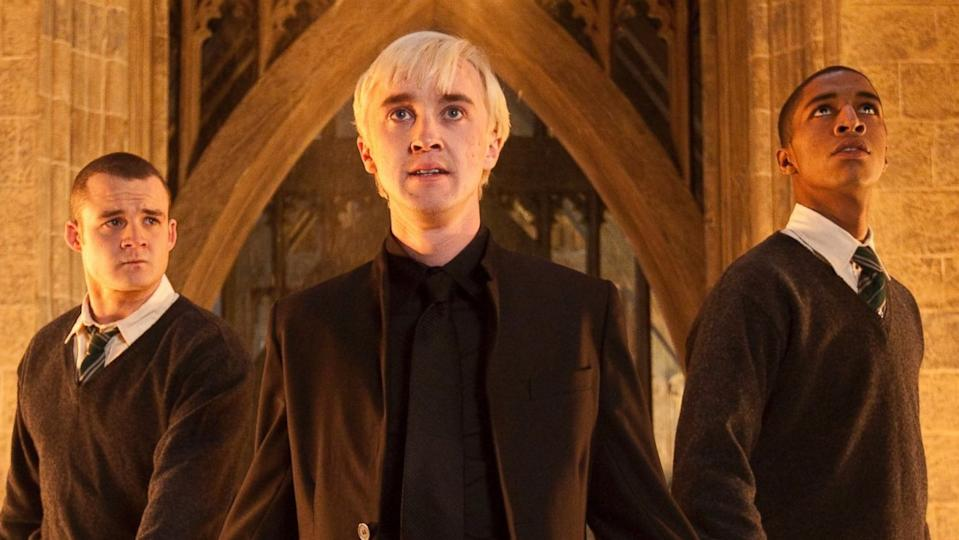 Tom Felton as Draco Malfoy in 'Harry Potter and the Deathly Hallows - Part Two'. (Credit: Warner Bros)