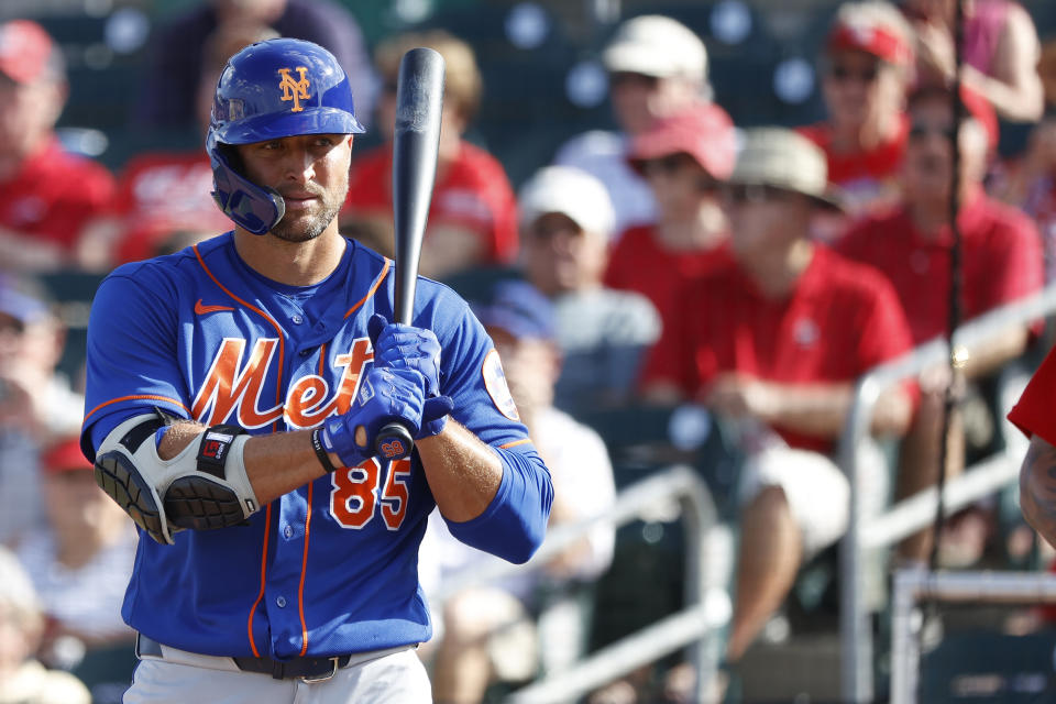 Tim Tebow is still technically alive to make the Mets' player pool for the upcoming shortened season. (Photo by Joe Robbins/Getty Images)