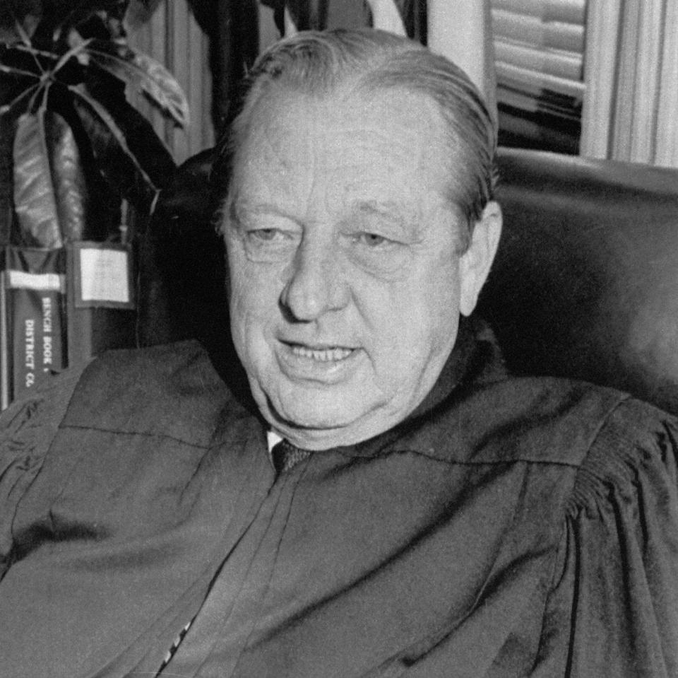 US District Judge John Wood Jr, who was shot and killed leaving his apartment on January 29, 1979. Charles Harrelson was convicted of the murder - Bettmann