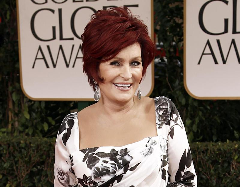 """FILE - This Jan. 15, 2012 file photo shows Sharon Osbourne at the 69th Annual Golden Globe Awards in Los Angeles. Osbourne says she's ready to say goodbye to """"America's Got Talent."""" Osbourne took to Twitter on Tuesday, addressing """"my darling"""" fellow judge Howard Stern and saying, """"money is not the reason I'm not returning"""" to the show.  NBC said Osbourne hasn't informed the network that she intends to leave """"America's Got Talent,"""" which is now airing its seventh season. (AP Photo/Matt Sayles, file)"""