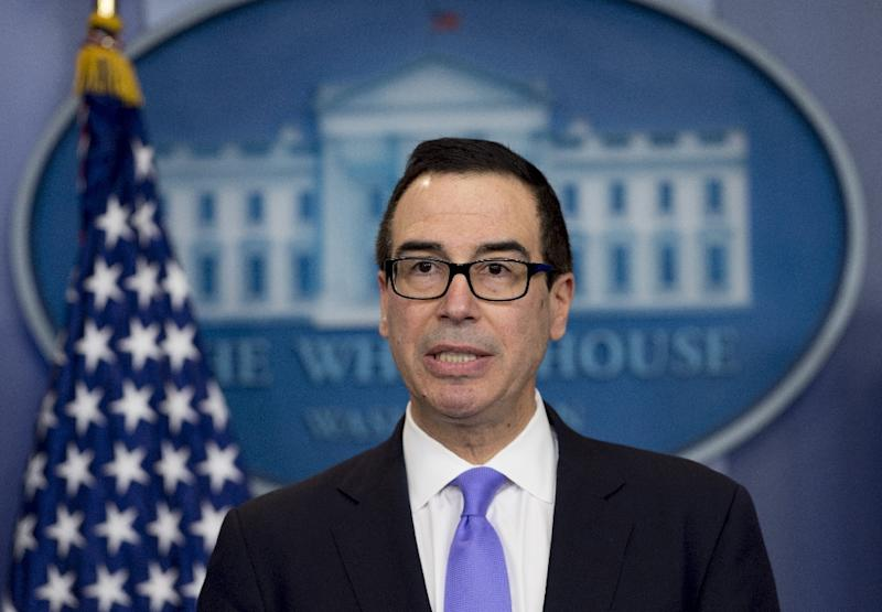 Treasury Secretary Steven Mnuchin, pictured in February 2017, is looking for G20 member states to avoid devaluing currencies to gain a competitive trade advantage