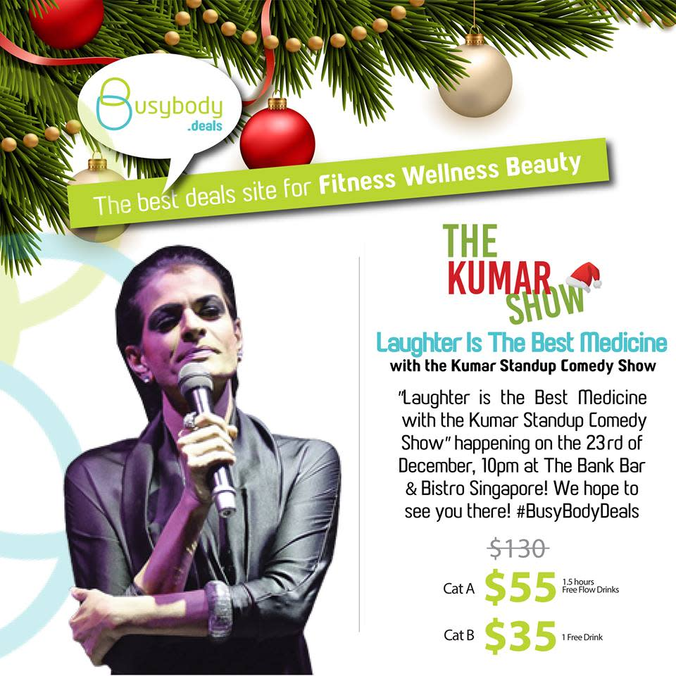 <p>Start the weekend with one of the best comedians in Singapore as he humours you with some of the best Singaporean jokes around. When: Friday, 23 December Where: The Bank Bar + Bistro Price: $35/ $55 Website: https://www.facebook.com/events/1801137493474549/ (Photo: BusyBody's Facebook) </p>