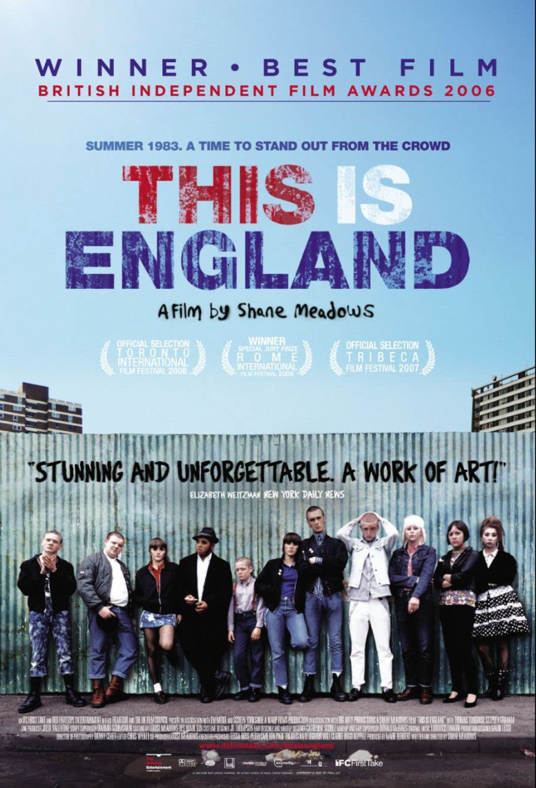 """<p>Shane Meadows's portrait of the developing skinhead subculture in 1980s England, <em>This Is England</em> captures the youth-fueled desire for belonging that still underlies much gang involvement. Unfortunately, the film is never not relevant. </p><p><a class=""""link rapid-noclick-resp"""" href=""""https://www.amazon.com/This-England-Thomas-Turgoose/dp/B0093SS0AW/ref=sr_1_1?dchild=1&keywords=This+Is+England&qid=1619534126&s=instant-video&sr=1-1&tag=syn-yahoo-20&ascsubtag=%5Bartid%7C2139.g.36133257%5Bsrc%7Cyahoo-us"""" rel=""""nofollow noopener"""" target=""""_blank"""" data-ylk=""""slk:STREAM IT HERE"""">STREAM IT HERE</a></p>"""