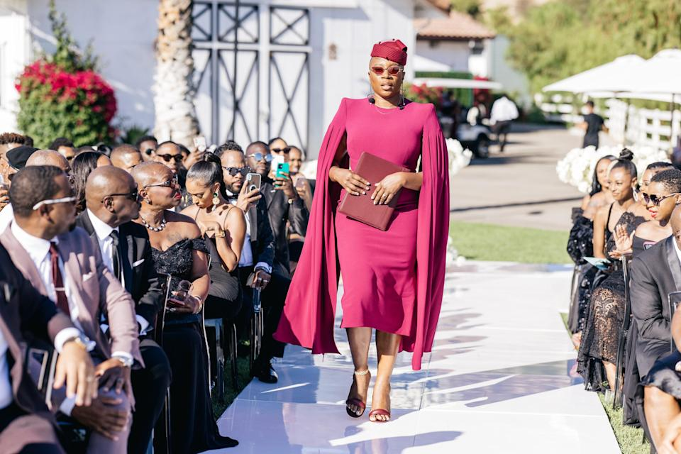 Our stunning Sister of Honor and wedding officiant, Aisha Hinds. When I say she brought the energy, she BROUGHT THE ENERGY. No one could have officiated our wedding but her.