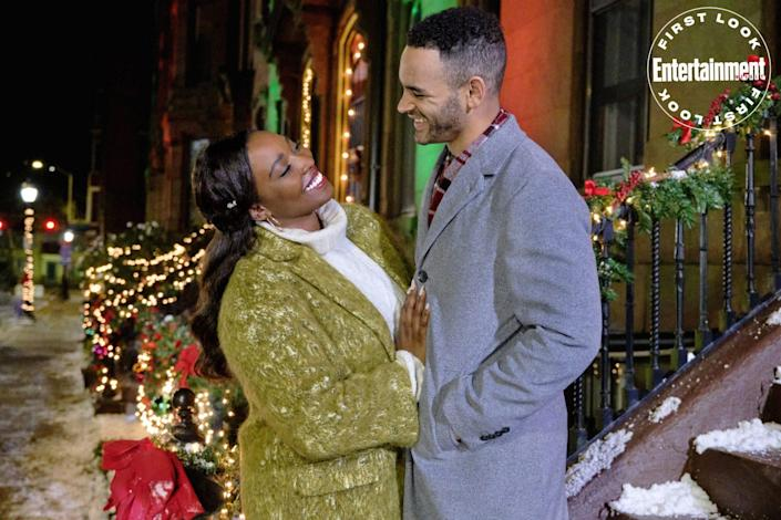 """<p><strong>Premieres: </strong>Nov. 14 at 8 p.m. ET/PT, Hallmark Channel</p> <p><strong>Stars: </strong>Olivia Washington, Will Adams, Tina Lifford</p> <p><strong>Contains: </strong>Family-minded grandma, Christmas jamboree</p> <p><strong>Official description:</strong><strong> """"</strong>After her grandmother, Mama Belle, turns away her usual gift delivery, expecting 'presence over presents,' jetsetting executive Jazmin heads uptown to Harlem for a quick visit. However, when Mama Belle is injured, Jazmin agrees to stay in the neighborhood and take over co-chairing their block's annual Christmas Jamboree with her old best friend Caleb. A successful corporate fixer, Jazmin expects the job to be easy but quickly finds that she has a lot to learn about the community and her heart.""""</p>"""