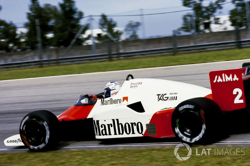 "1985: McLaren-Porsche MP4/2B<span class=""copyright"">LAT Images</span>"