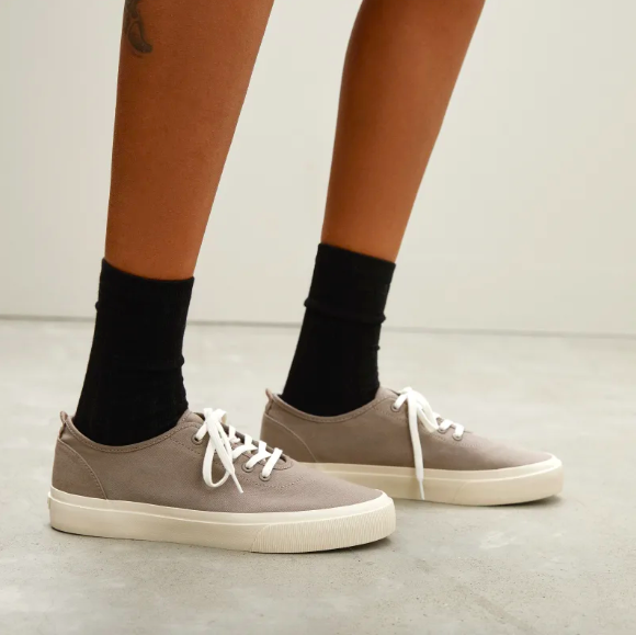 The Forever Sneaker in Clay. Image via Everlane.