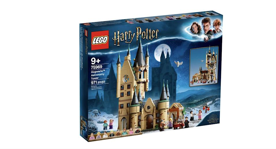 <p>The <span>Lego Harry Potter Hogwarts Astronomy Tower Set</span> ($100, available on July 1) has 971 pieces and is best suited for kids ages 9 and up.</p>