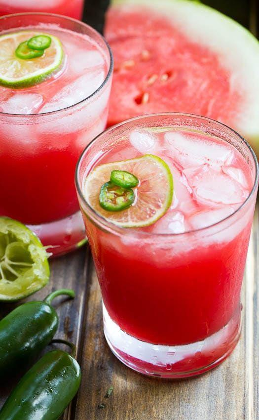 """<p>Watermelon is a great base for a spicy margarita: It perfectly balances out the hot jalapeño-infused tequila.</p><p><strong>Get the recipe at <a href=""""https://spicysouthernkitchen.com/jalapeno-watermelon-margarita/"""" rel=""""nofollow noopener"""" target=""""_blank"""" data-ylk=""""slk:Spicy Southern Kitchen"""" class=""""link rapid-noclick-resp"""">Spicy Southern Kitchen</a>.</strong></p><p><strong><strong><strong><strong><strong><strong><a class=""""link rapid-noclick-resp"""" href=""""https://go.redirectingat.com?id=74968X1596630&url=https%3A%2F%2Fwww.walmart.com%2Fip%2FInstant-Pot-Ace-60-Cooking-Blender%2F626991948&sref=https%3A%2F%2Fwww.thepioneerwoman.com%2Ffood-cooking%2Fmeals-menus%2Fg32147587%2Fwatermelon-drink-recipes%2F"""" rel=""""nofollow noopener"""" target=""""_blank"""" data-ylk=""""slk:SHOP BLENDERS"""">SHOP BLENDERS</a></strong></strong></strong></strong></strong><br></strong></p>"""