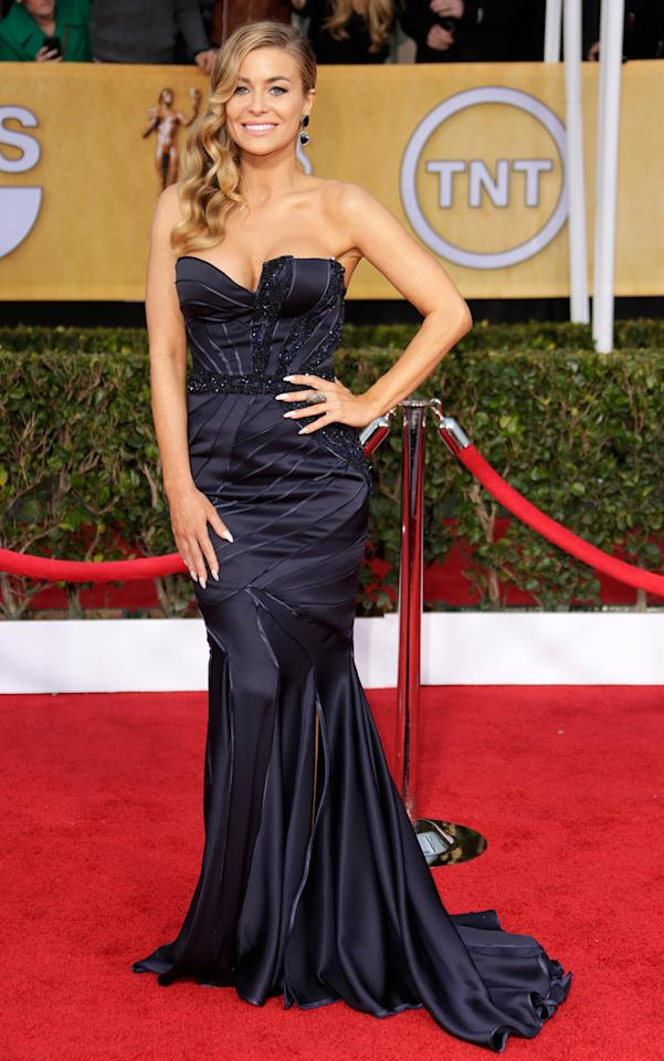 Carmen Electra arrives at the 19th Annual Screen Actors Guild Awards at the Shrine Auditorium in Los Angeles, CA on January 27, 2013.