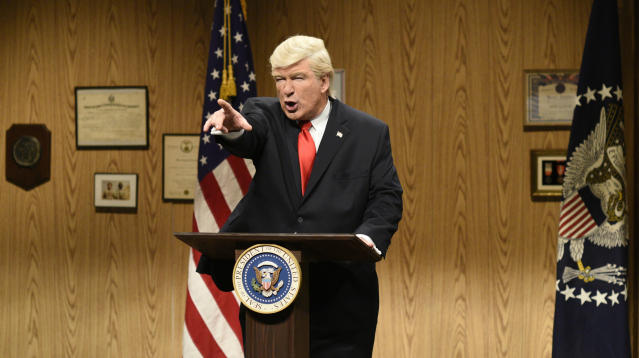 Alec Baldwin Burns Trump While Accepting Emmy For Playing Trump