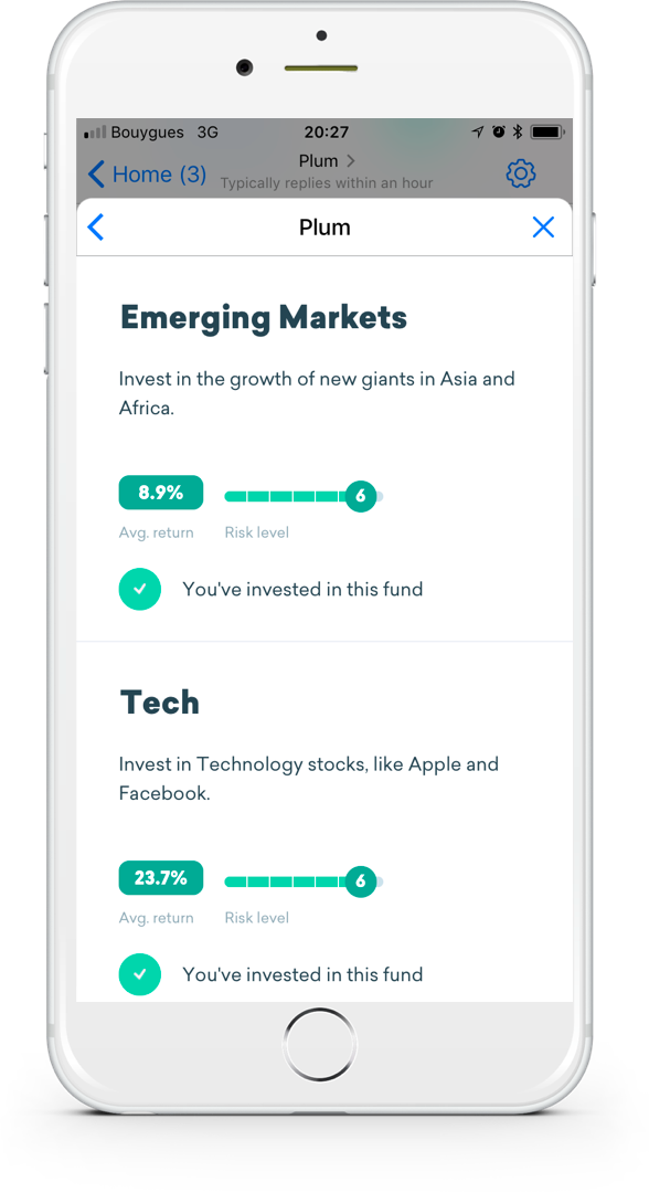 Plum, the fintech chatbot that helps you save, adds theme-based investing