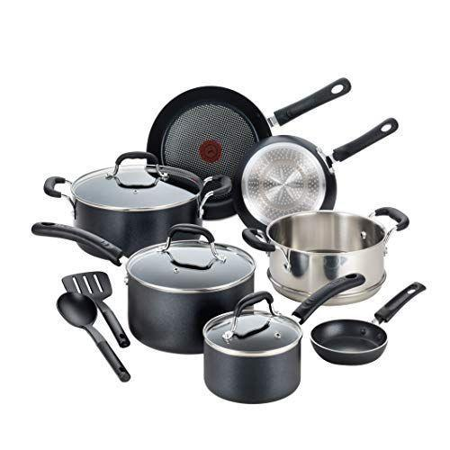 """<p><strong>T-fal</strong></p><p>amazon.com</p><p><strong>$169.28</strong></p><p><a href=""""https://www.amazon.com/dp/B01AXZINF0?tag=syn-yahoo-20&ascsubtag=%5Bartid%7C1782.g.33340212%5Bsrc%7Cyahoo-us"""" rel=""""nofollow noopener"""" target=""""_blank"""" data-ylk=""""slk:BUY NOW"""" class=""""link rapid-noclick-resp"""">BUY NOW</a></p><p>T-fal is known for its high-quality, low-price products—and their induction cookware line is no exception. Reviewers were wowed by the number and durability of items in the set.</p>"""