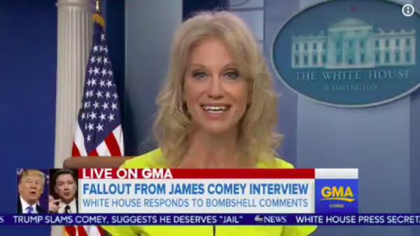 Kellyanne Conway Fumes Over James Comey's Tell-All Interview