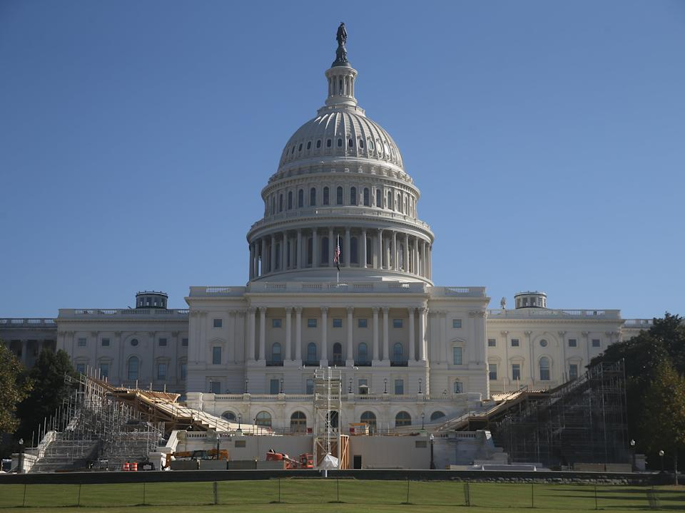 <p>Preparations for the inauguration by the United States Capitol Building</p> (Yegor Aleyev/TASS)