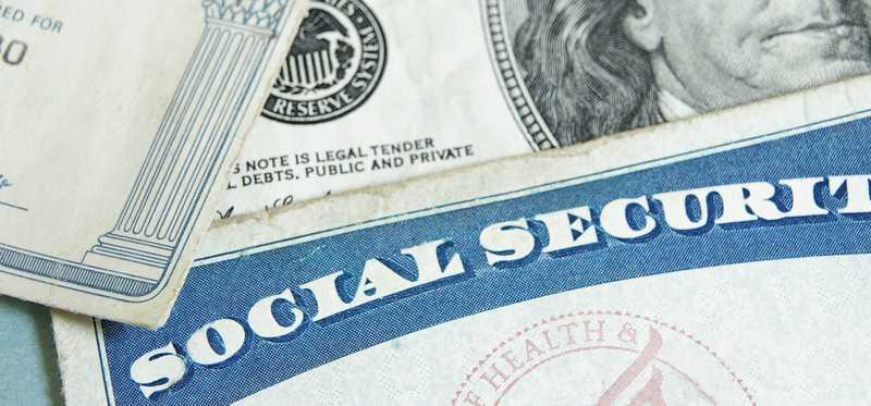 A social security card and money.
