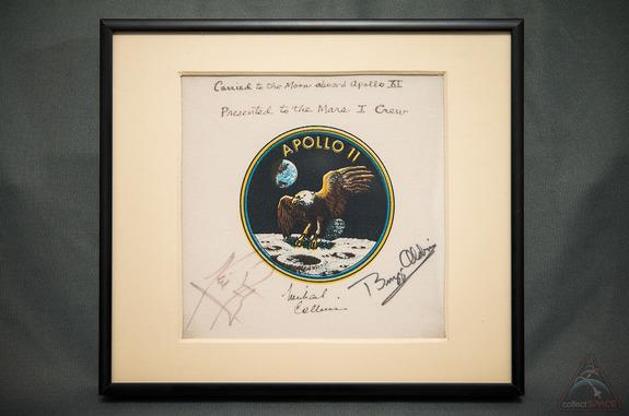 This Apollo 11 mission patch, which was carried to the moon in July 1969, will launch with astronauts flying to Mars.