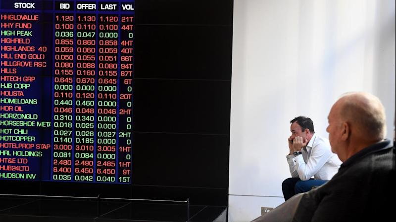 <p>Australian share market has recouped some of its early losses by midday</p>