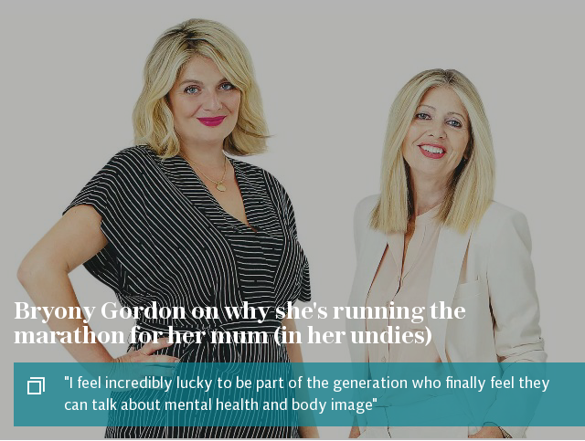 Bryony Gordon on why she's running the marathon for her mum (in her undies)