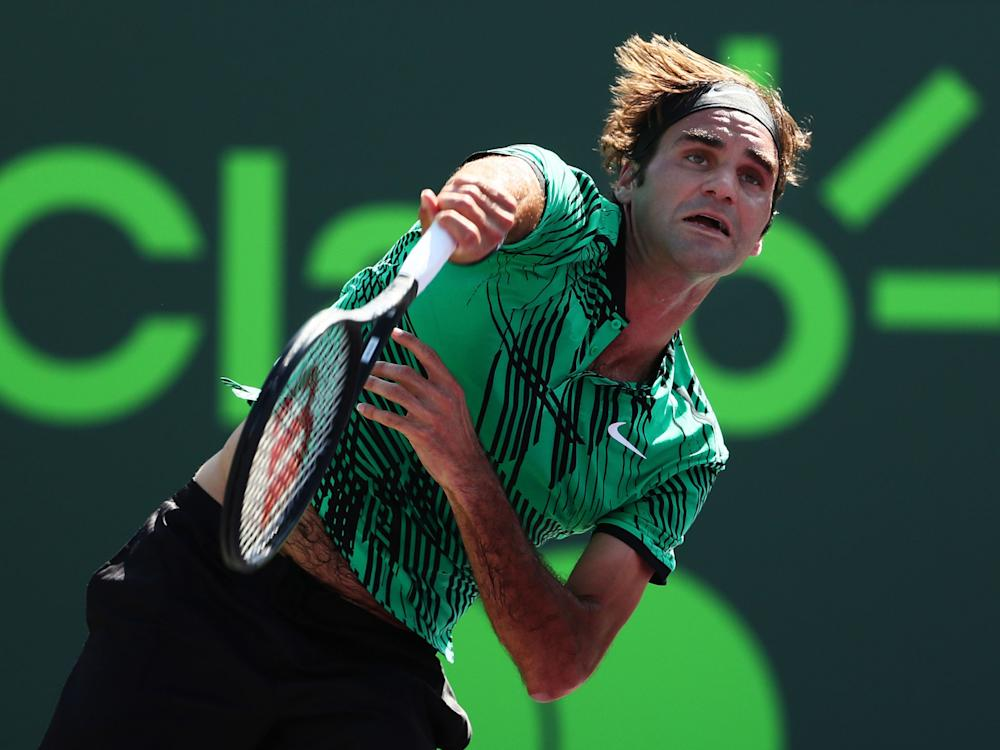 Roger Federer beat Nick Kyrgios to book his place in the Miami Open final: Getty