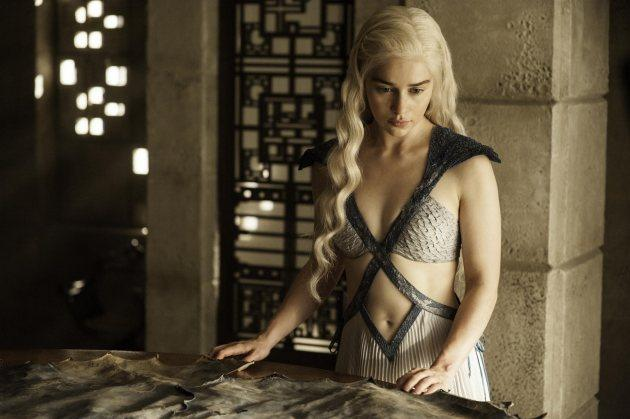 Emilia Clarke as Daenerys Targaryen (in a new costume) in 'Game of Thrones' Season 4, Episode 7, 'Mockingbird' -- Helen Sloan/HBO
