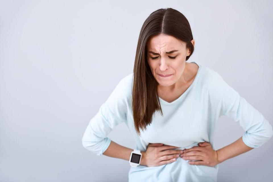 Because it's often extremely painful and disruptive, abdominal pain is not something you can typically ignore. Sometimes, it's simply gas (and yes, gas bloating can be very painful). But it can also be a sign of pancreatitis, Bedford explains. If that's the case, the pain may travel to your back and get worse after eating a meal.