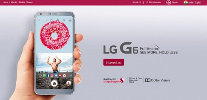 LG G6, Registration, India, price, specifications,launch