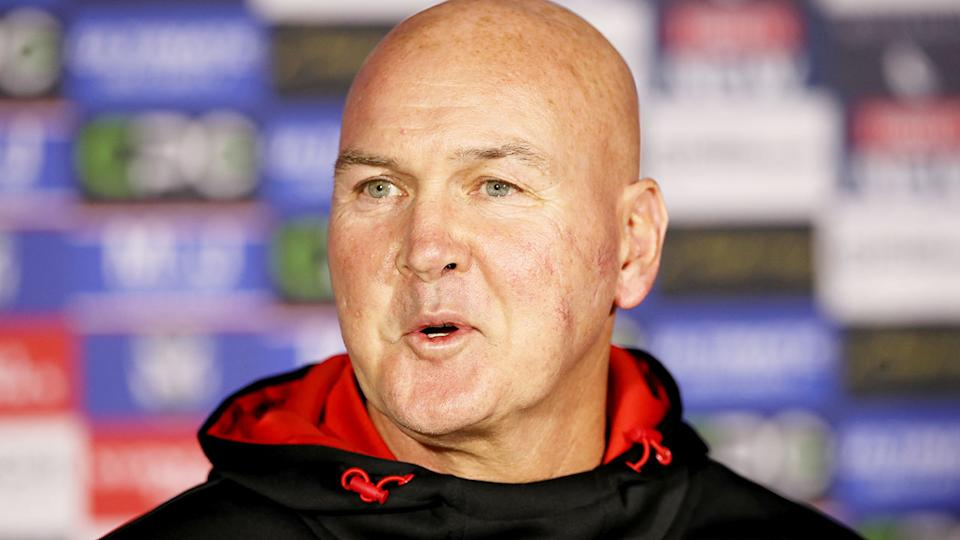 Pictured here, under-fire Dragons coach Paul McGregor.