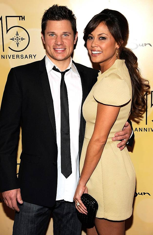 """Newlyweds,"" take two? Reality TV cameras rolled for a second time as Jessica Simpson's former hubby Nick Lachey tied the knot again, this time to bride Vanessa Minnillo, on a tropical island July 15. The two-hour wedding special aired on TLC later that month. Do you think this union will last forever?"