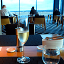 """<p>I walked into the Qantas First Class lounge. The agent scanned my ticket, looked at me, and said """"Welcome, Mr. Huang"""" with a big Australian smile. <i>(Photo: Sam Huang)</i><br></p>"""