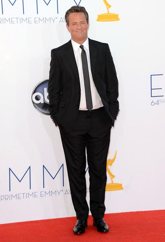 Matthew Perry arrives at the 64th Primetime Emmy Awards at the Nokia Theatre in Los Angeles on September 23, 2012.